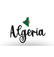 algeria country big text with flag inside map