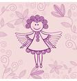Angel floral background vector image vector image