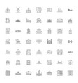architecture linear icons signs symbols vector image vector image