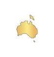 Australia computer symbol vector image vector image