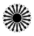 black and white silhouette of a flower