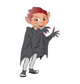 boy in a vampire costume vector image