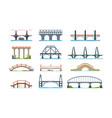 bridges wooden iron aqueduc with column modern vector image vector image
