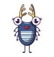 bug icon cartoon style vector image vector image