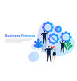 business process flat design concept for team vector image vector image