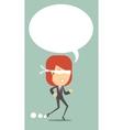 Business woman runs blindly vector image vector image