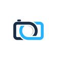 camera infinity logo icon design vector image