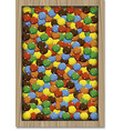candy sweet colorful in the wooden box vector image vector image