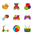 children time icons set cartoon style vector image vector image