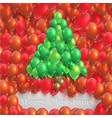christmas tree made by balloons vector image vector image