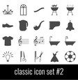 classic icon set 2 gray icons on white vector image vector image