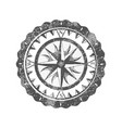 compass rose isolated on white background icon vector image