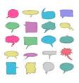 cute speech bubble doodle set vector image