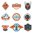 Cycling club labels emblems set vector image