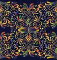 damask seamless pattern floral vintage colorful vector image