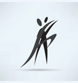 dance icon vector image