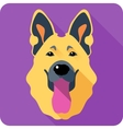 dog German shepherd icon flat design vector image vector image