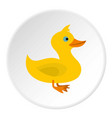 duck icon circle vector image vector image