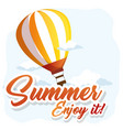 enjoy summer design vector image vector image