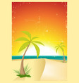 exotic beach grunge postcard vector image