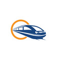 fast train icon design vector image vector image