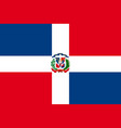 flag of dominican republic vector image vector image