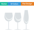 Flat design icon of glasses set vector image