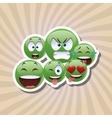 Flat of cartoon face design vector image vector image
