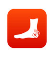 foot heel icon digital red vector image vector image