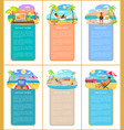 freelance summer collection vector image vector image