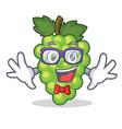 geek green grapes character cartoon vector image