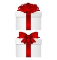Gift Collection in a box with red bow vector image vector image