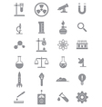 Gray science icons set vector image vector image