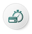 green fast payments icon isolated on white vector image vector image