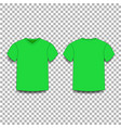 green men s t-shirt template v-neck front and vector image