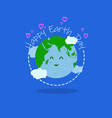 happy earth day with happy earth typography at vector image