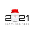 happy new year 2021 cover with snowball in santa vector image