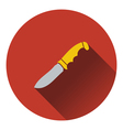 Icon of hunting knife ui colors vector image vector image