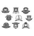 icons badges set for college or university vector image vector image