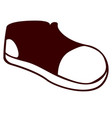 isolated shoe icon vector image