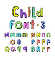 kids colorful alphabet vector image