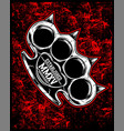 knuckle hand drawing vector image vector image