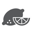 lemon glyph icon vegetable and diet vector image vector image