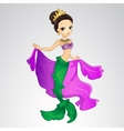 Mermaid With Crown And Cape vector image vector image