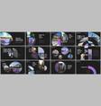 minimal presentations design portfolio vector image vector image