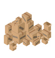 Moving many of cardboard boxes Paper packaging for vector image vector image
