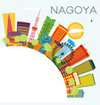 nagoya skyline with color buildings blue sky and vector image vector image