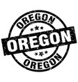 oregon black round grunge stamp vector image
