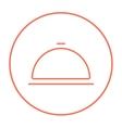Restaurant cloche line icon vector image