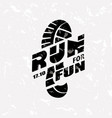 run symbol in grunge style marathon icon poster vector image vector image